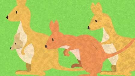 可愛いカンガルーのイラスト - フリーで使える動物素材
