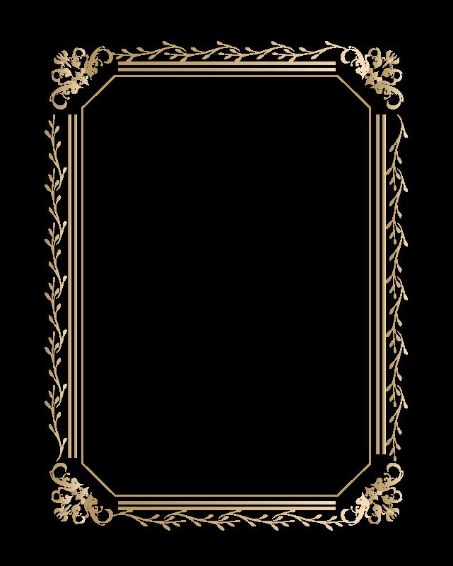 カリグラフィーフレーム1のイラスト