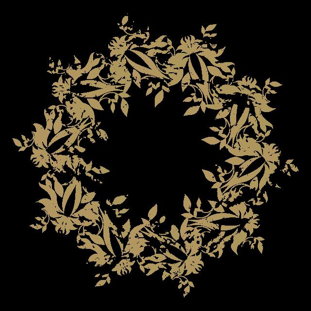 円のカリグラフィーフレーム4のイラスト