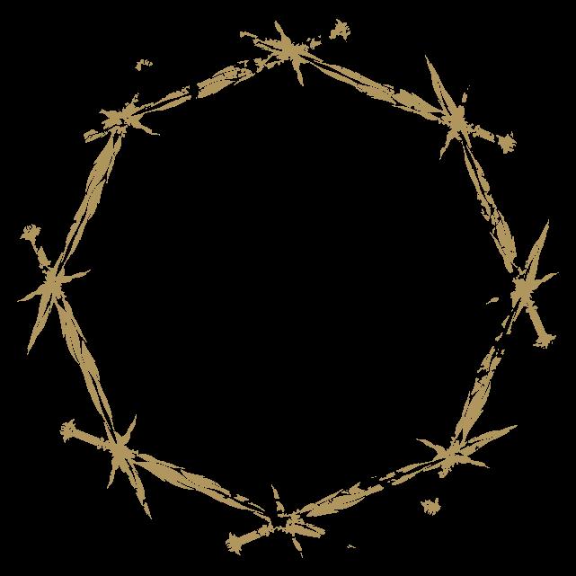 円のカリグラフィーフレーム5のイラスト