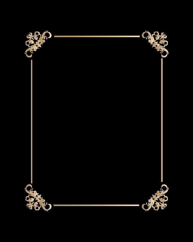 カリグラフィーフレーム2のイラスト