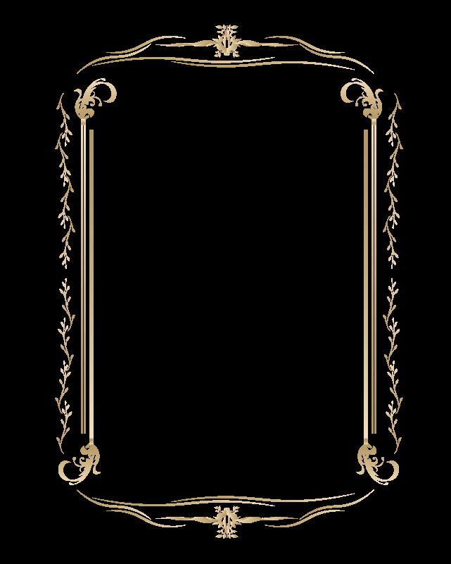 カリグラフィーフレーム3のイラスト
