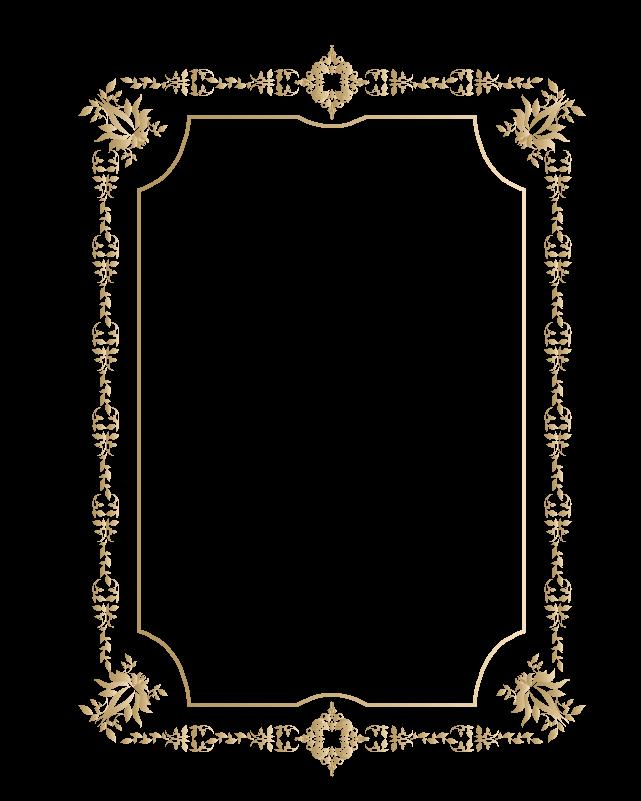 カリグラフィーフレーム4のイラスト