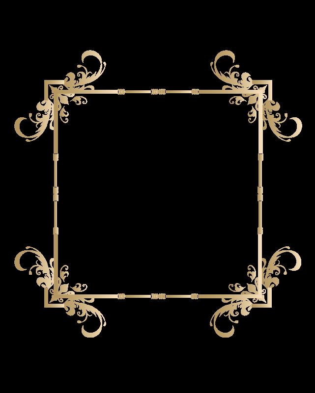カリグラフィーフレーム5のイラスト