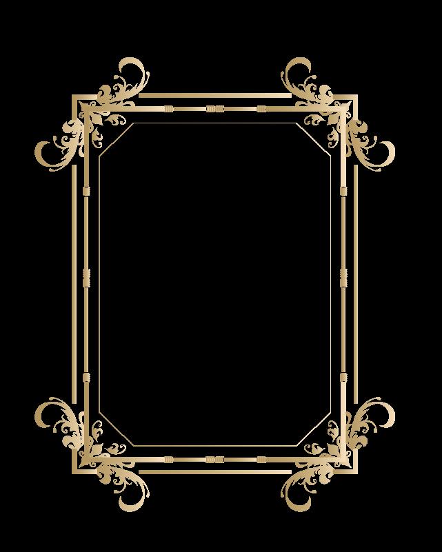 カリグラフィーフレーム6のイラスト