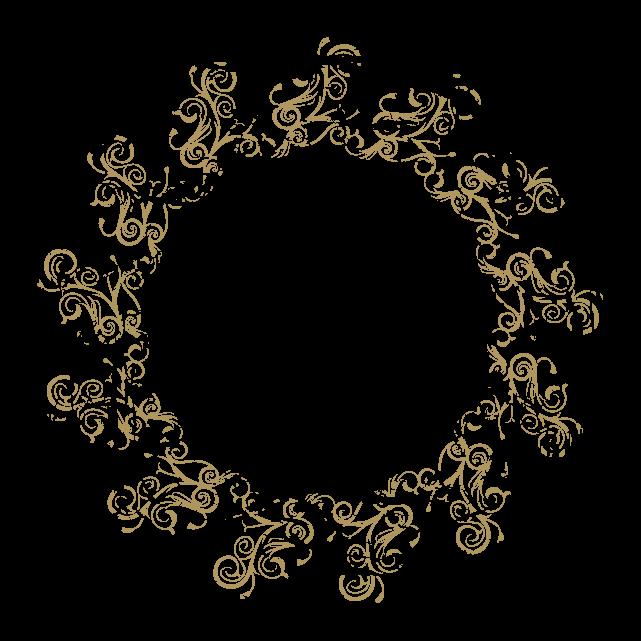 円のカリグラフィーフレーム1のイラスト