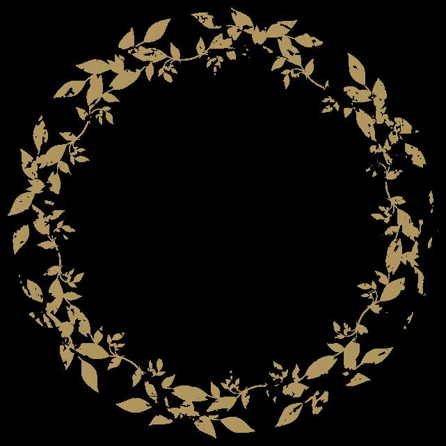 円のカリグラフィーフレーム2のイラスト