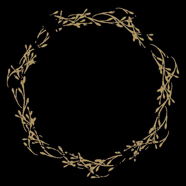 円のカリグラフィーフレーム3のイラスト