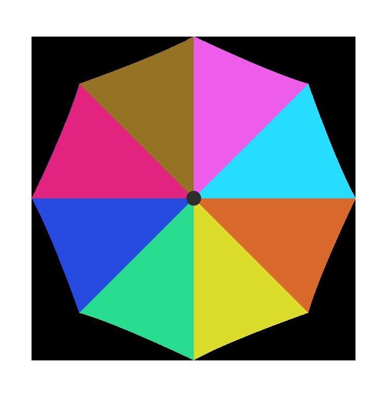 カラフルな傘(上)