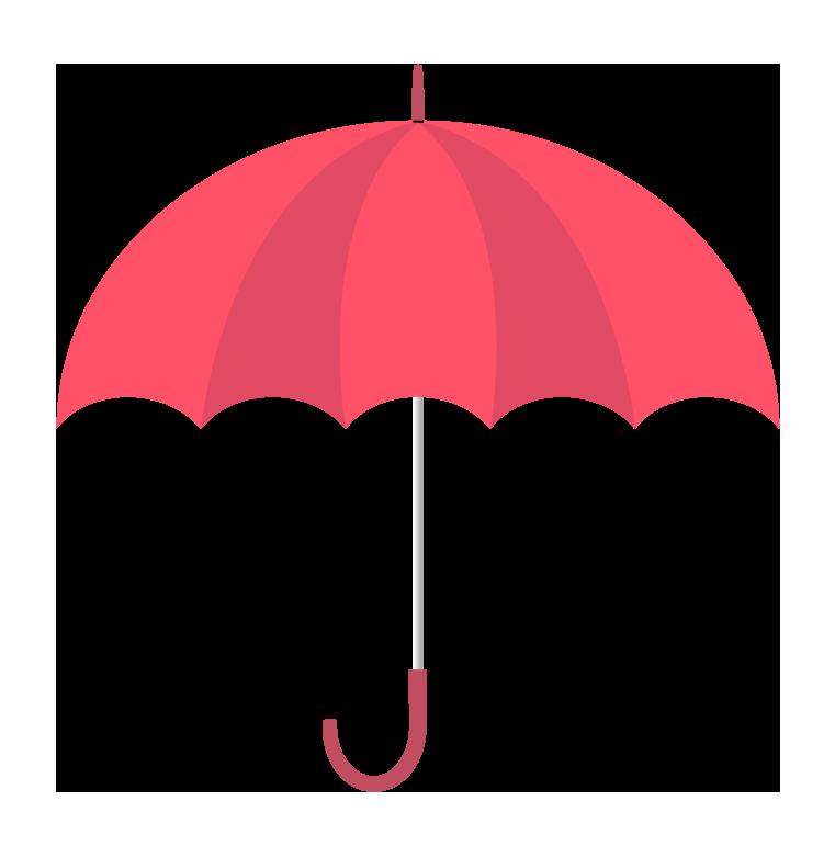 赤い傘(横)