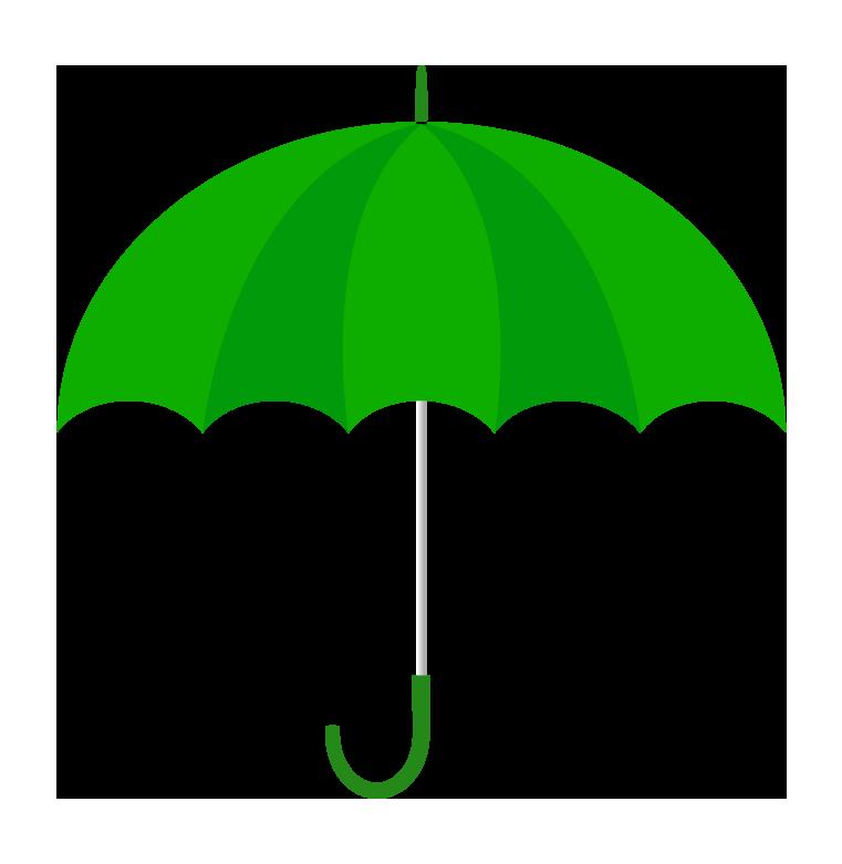 緑の傘(横)