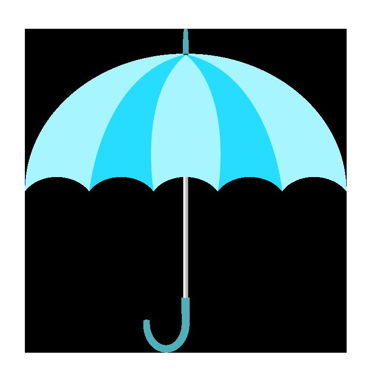 水色の傘(横)