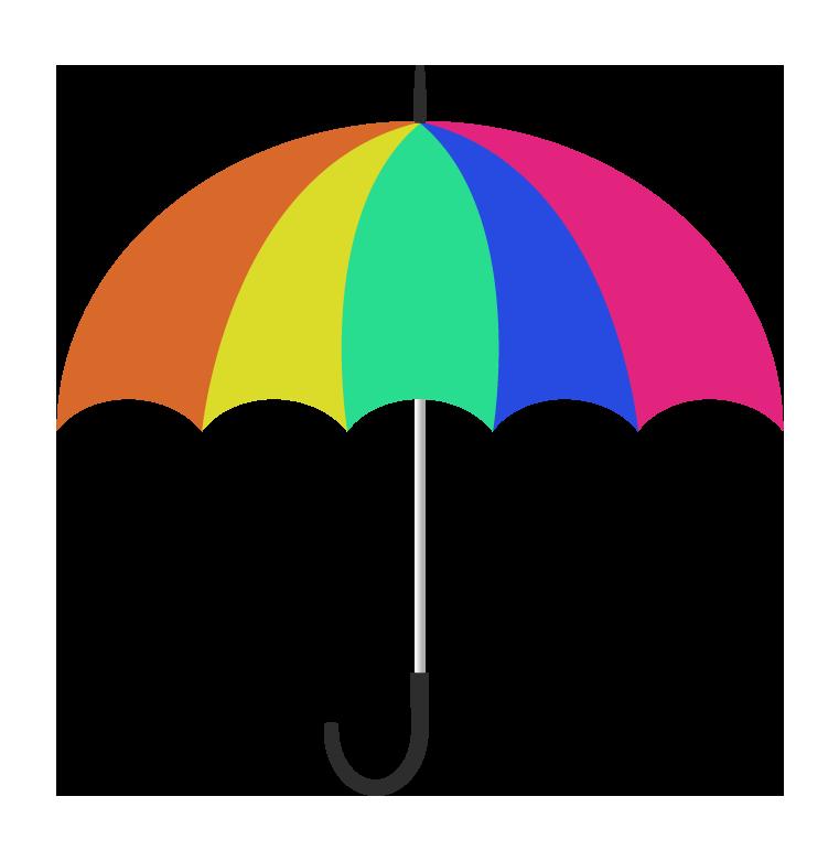 カラフルな傘(横)