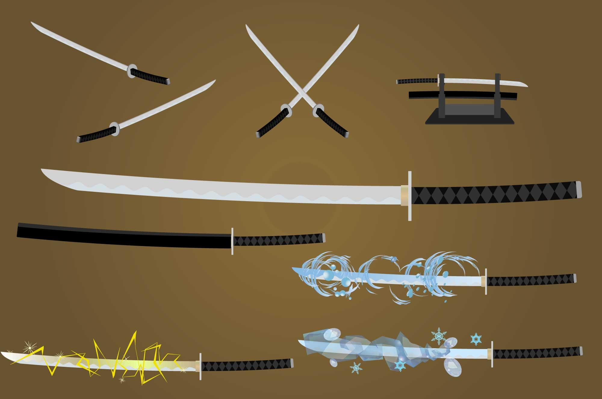 刀イラスト - 日本刀と武器のフリー素材