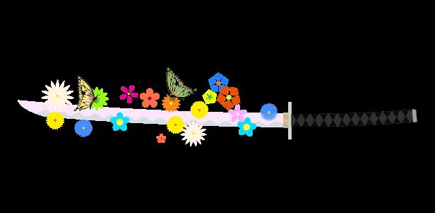 花の刀のイラスト