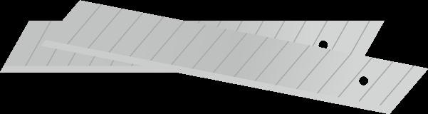 カッターの替刃のイラスト