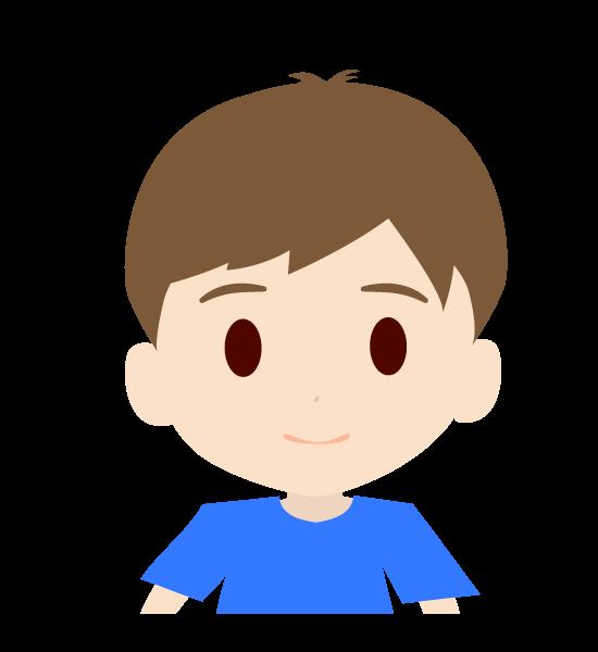 可愛い男の子の上半身イラスト