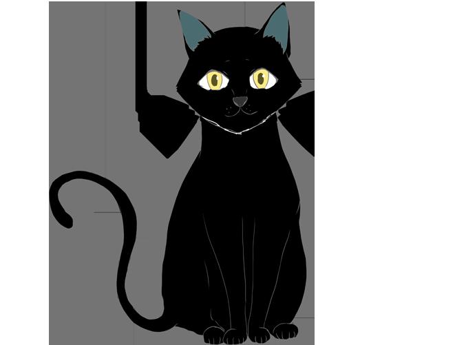 黒猫のイラスト