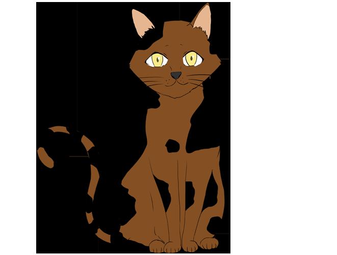 黒茶猫のイラスト