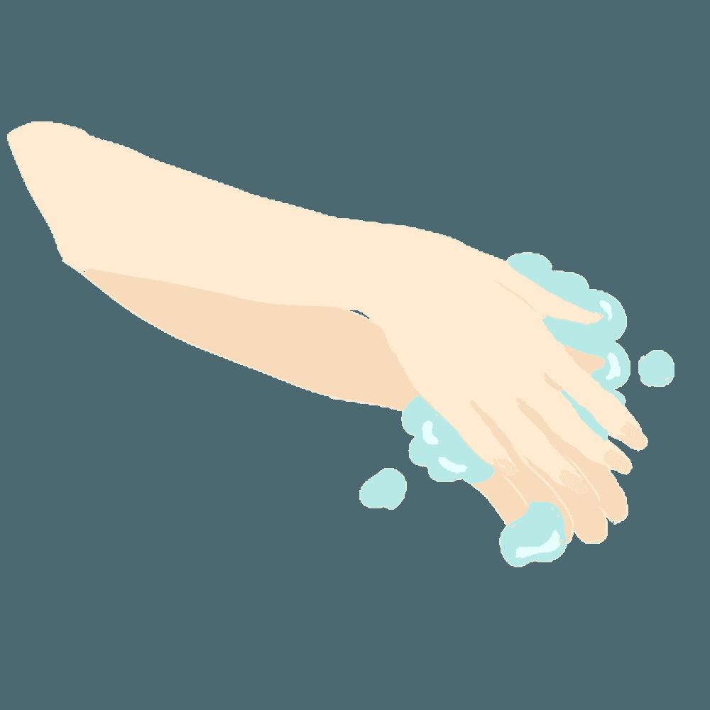 手洗いで予防のシーンイラスト