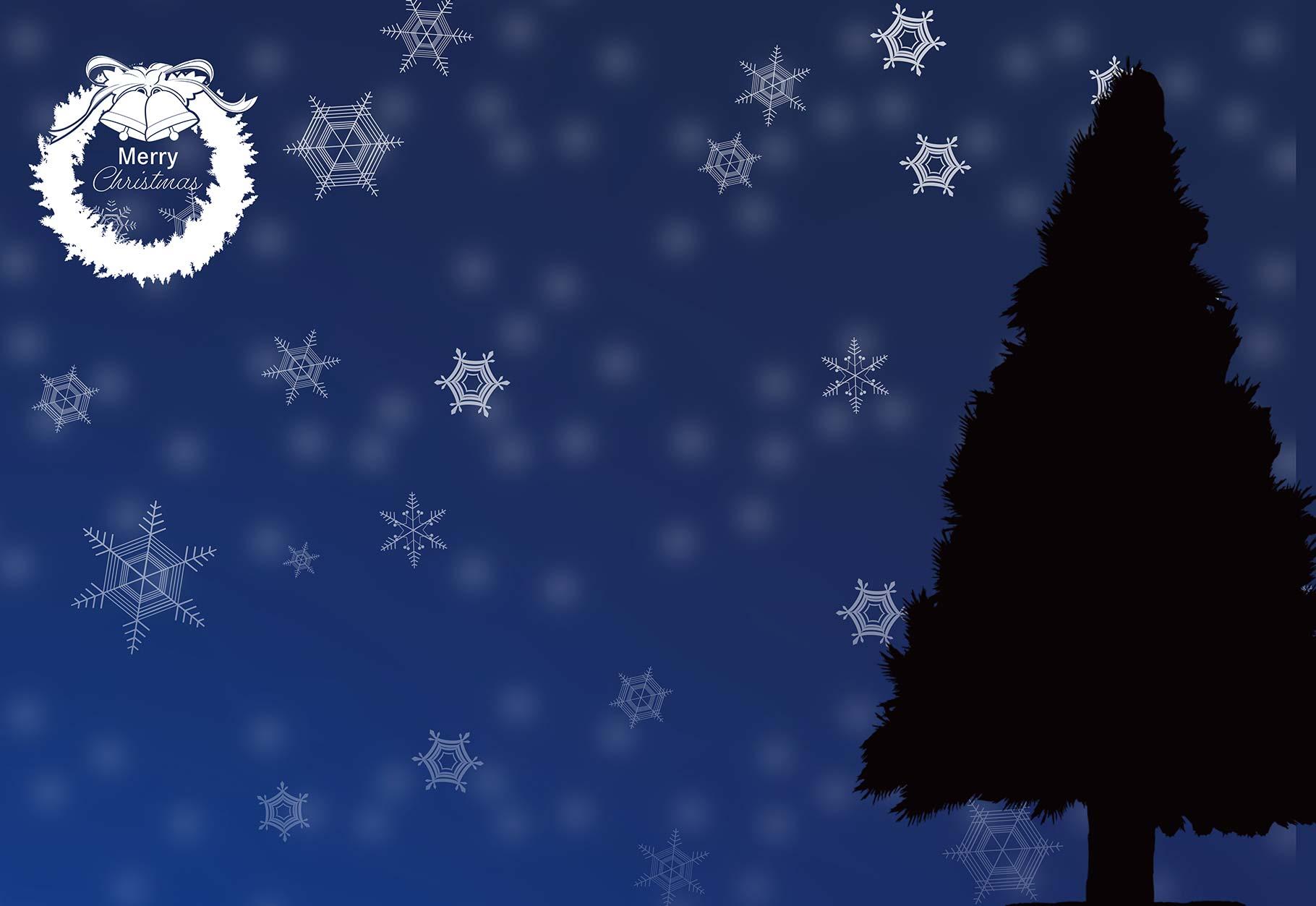 聖夜のツリーのイラスト