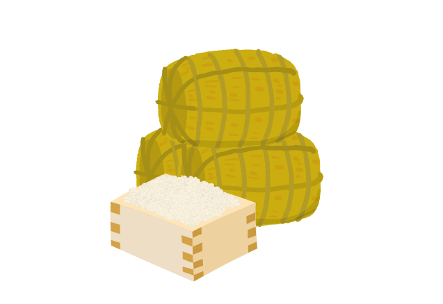 米俵・お米の景品のイラスト