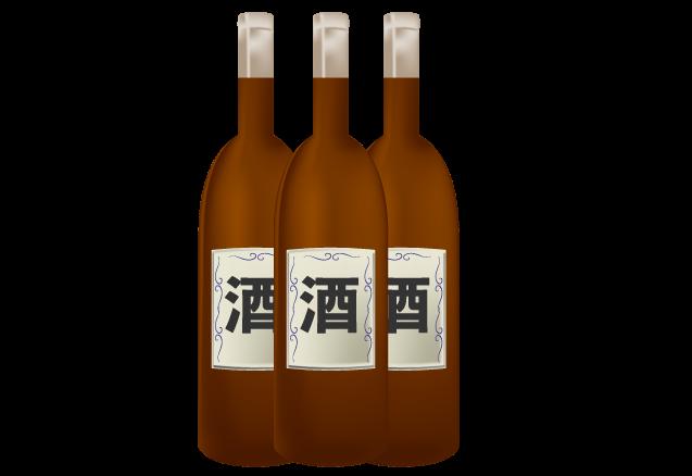 お酒の景品のイラスト