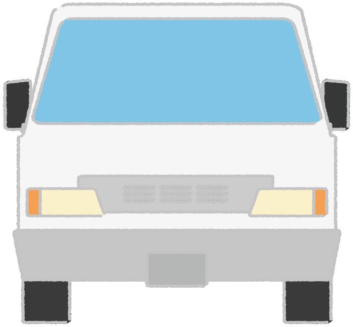 正面から見た軽トラックのイラスト