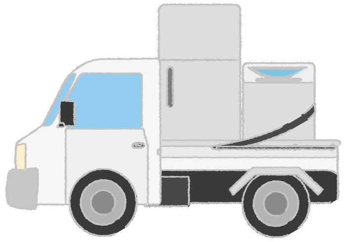 家電を配達する軽トラックのイラスト
