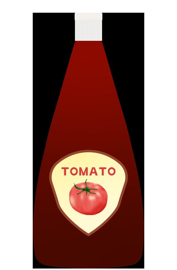 トマトケチャップのイラスト