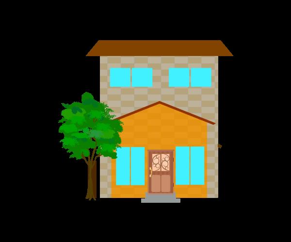 おしゃれな住宅のイラスト