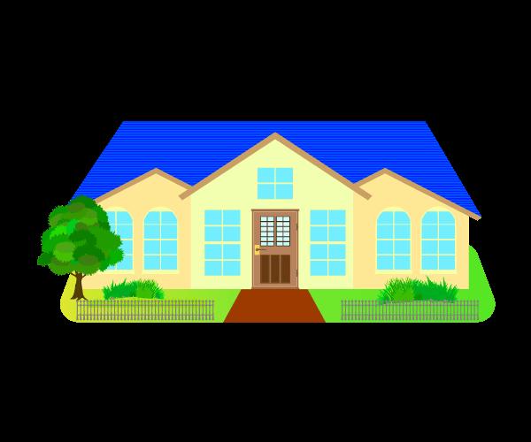 可愛い家のイラスト