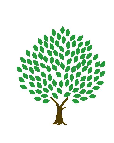 葉いっぱいの木のイラスト