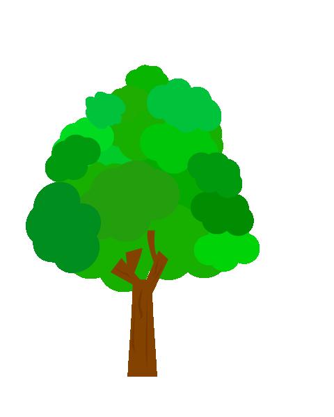 新緑の木のイラスト