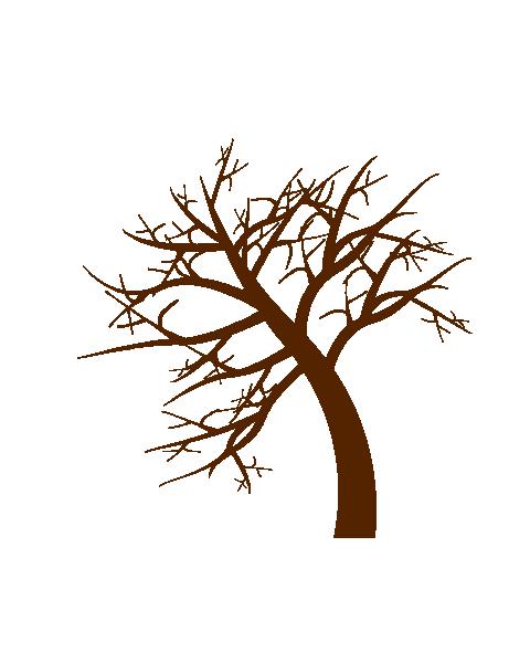 冬の枯れ木のイラスト
