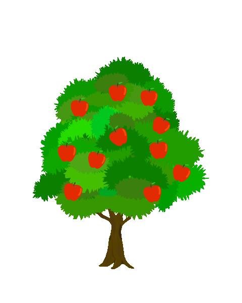 リンゴの木のイラスト