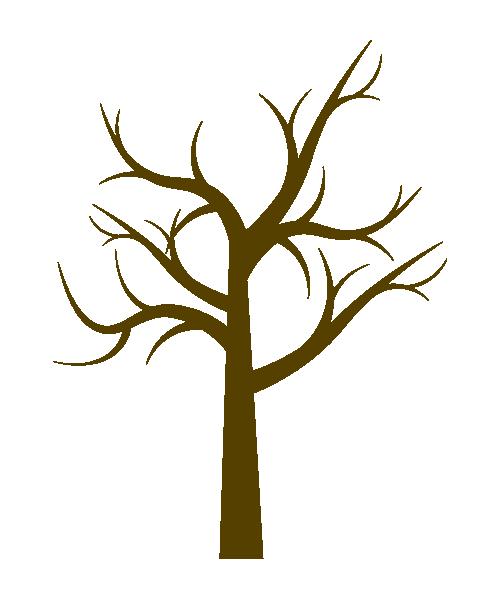 葉のない木のイラスト