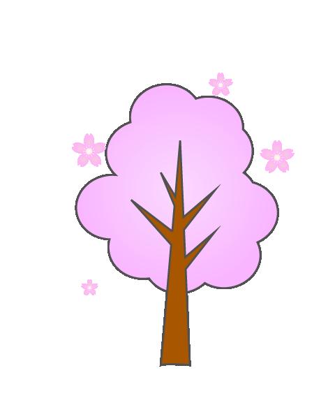 シンプルな桜の木のイラスト