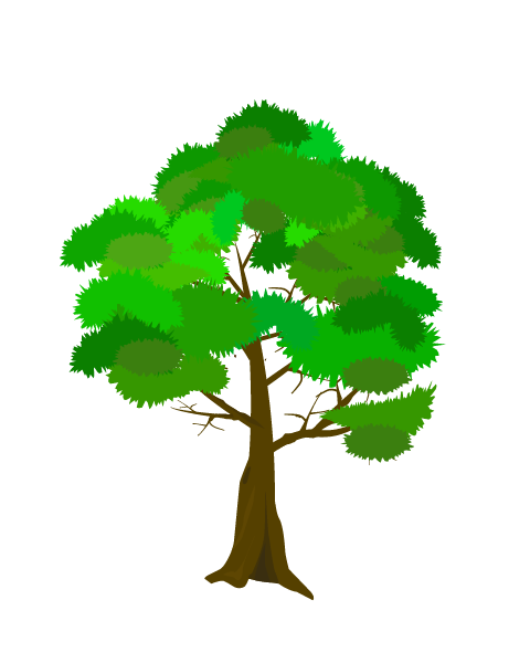 枝の多い木のイラスト
