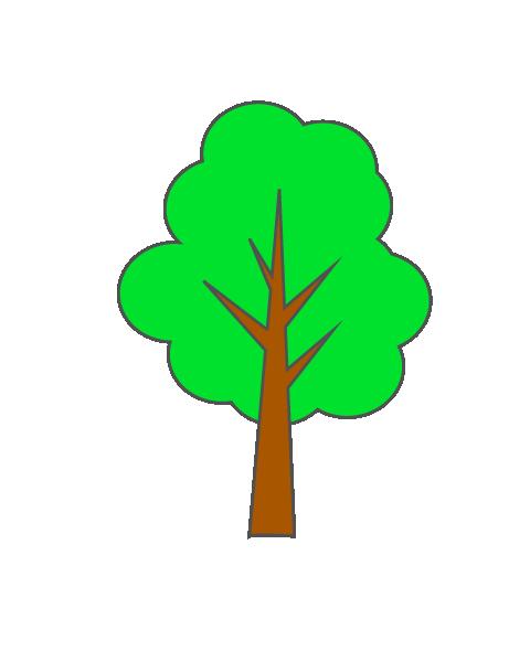 シンプルな木のイラスト