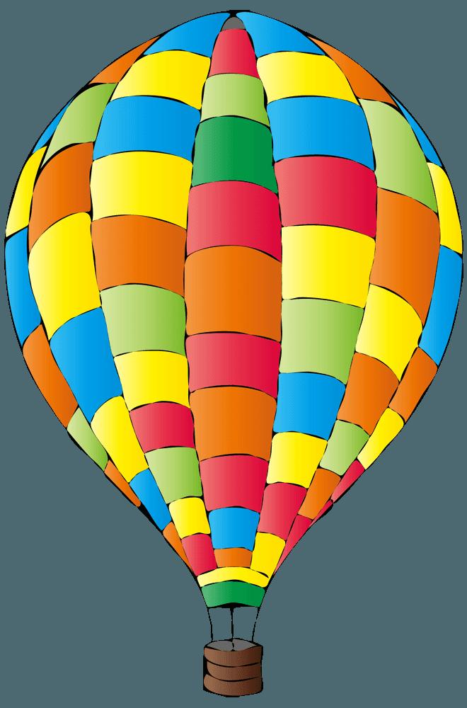 かなり派手な気球イラスト