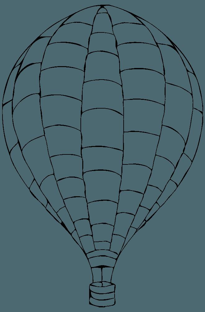 ブロック模様の気球ぬりえ