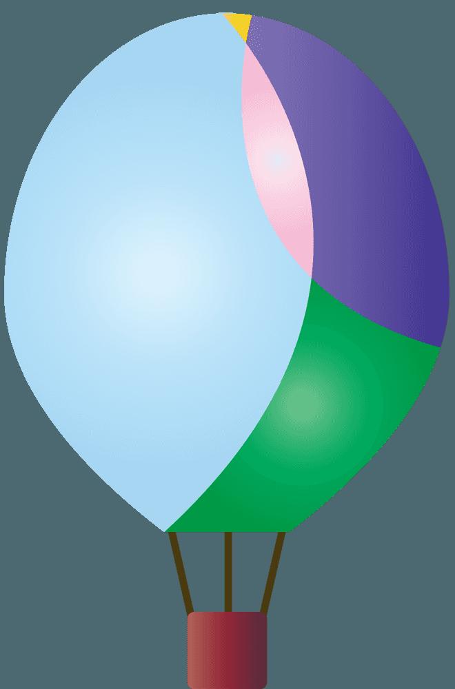 大きい水玉気球イラスト