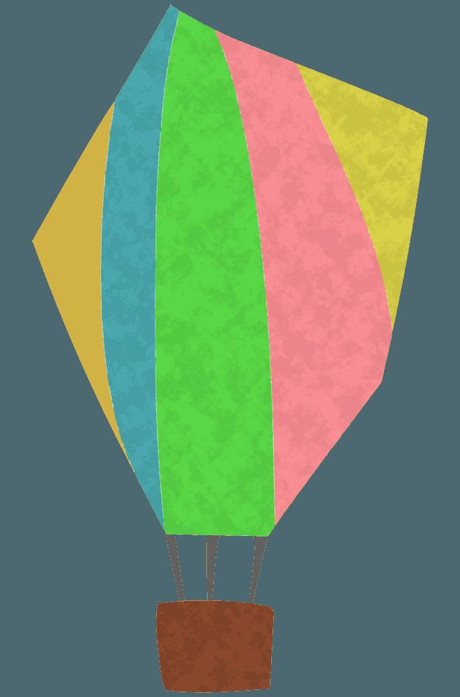 アートなイラスト気球
