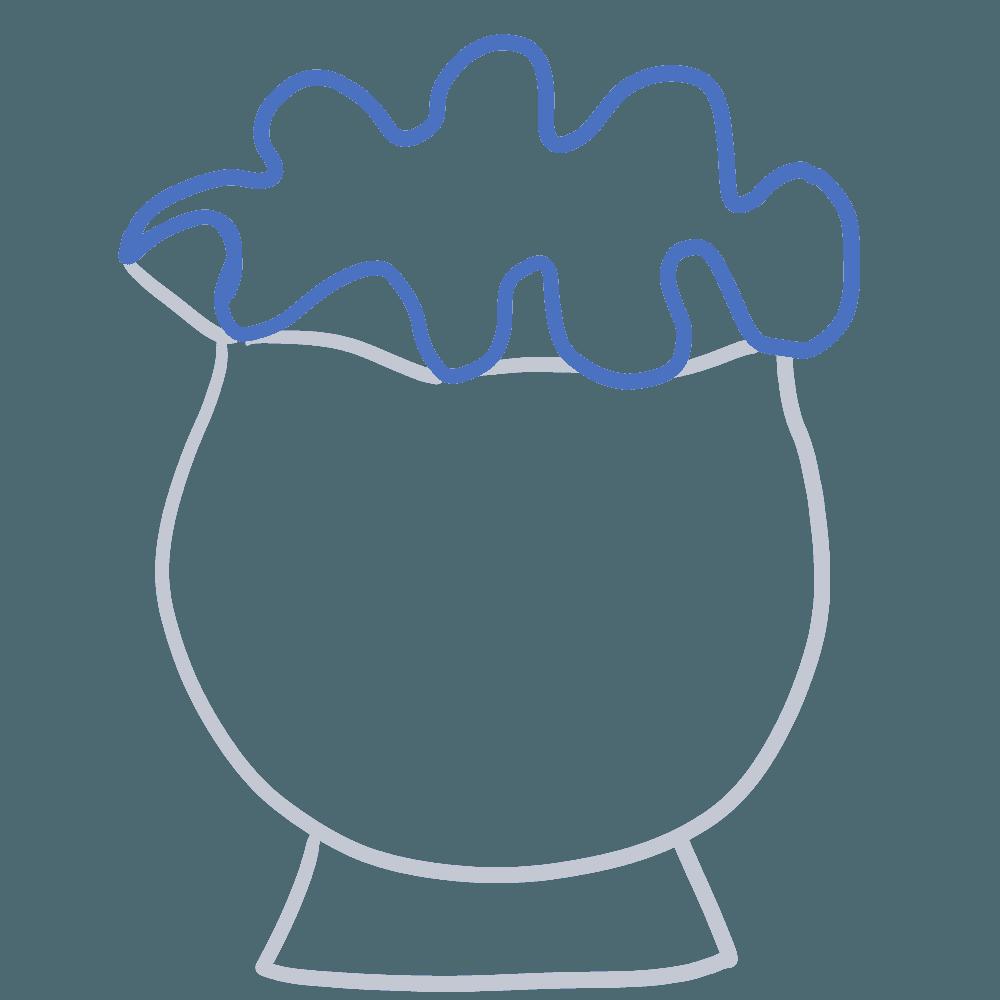 金魚鉢イラスト