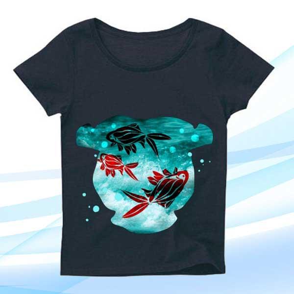 可愛い金魚Tシャツとオリジナルグッズ・雑貨