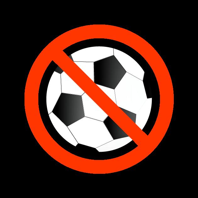 サッカー・スポーツ禁止マークのイラスト