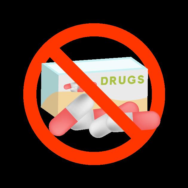 薬禁止マークのイラスト