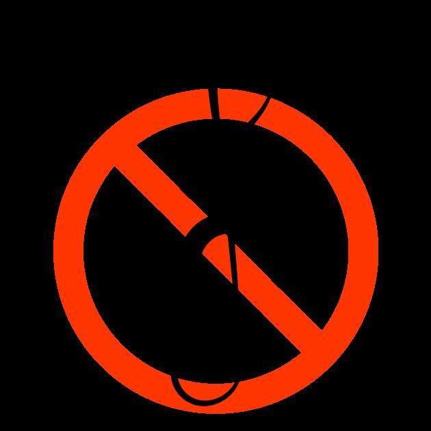 音楽禁止マークのイラスト