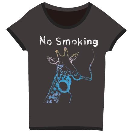 キリン面白レディースブラックTシャツ